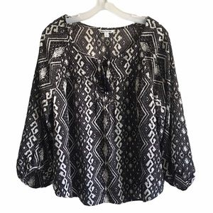 American Eagle Outfitters Tribal Tassel Blouse
